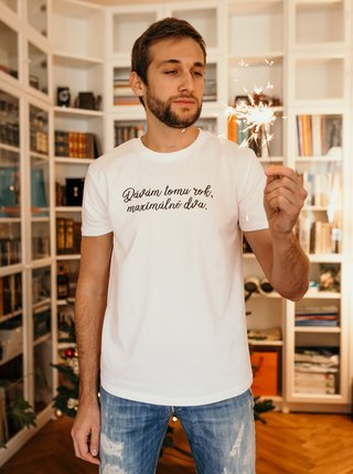 Bílé pánské tričko ZOOT Original Dávám tomu rok