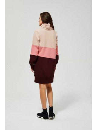 Moodo ružové mikinové šaty
