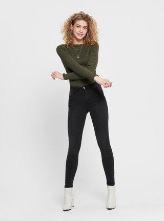 Černé skinny fit džíny Jacqueline de Yong