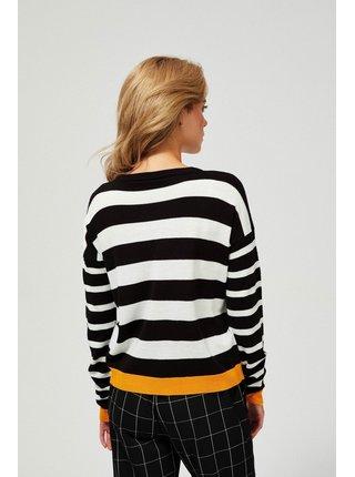 Moodo pruhovaný svetr Happy