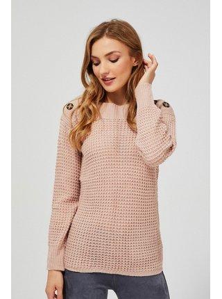 Moodo pudrově růžový svetr