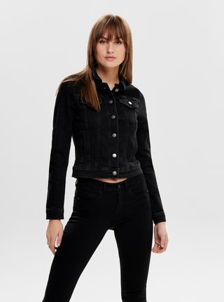 Čierna rifľová bunda Jacqueline de Yong