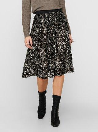 Čierna vzorovaná plisovaná sukňa Jacqueline de Yong