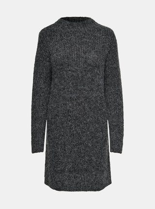 Tmavošedé svetrové šaty Jacqueline de Yong