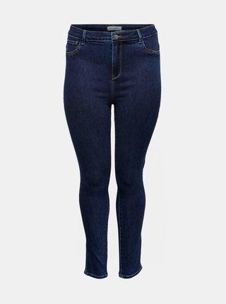 Modré skinny fit džíny ONLY CARMAKOMA Life