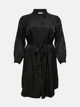 Černé košilové šaty ONLY CARMAKOMA Talia