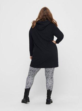 Černá dlouhá mikina ONLY CARMAKOMA Retta
