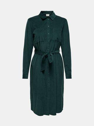Zelené manšestrové košilové šaty Jacqueline de Yong
