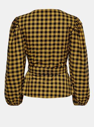 Žltá kockovaná blúzka Jacqueline de Yong