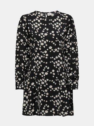 Černé květované šaty Jacqueline de Yong