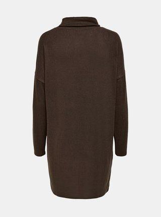 Hnědé volné svetrové šaty Jacqueline de Yong