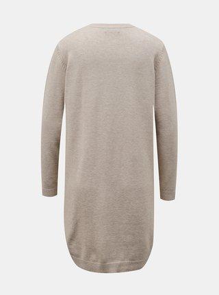 Béžové svetrové šaty Jacqueline de Yong Marco