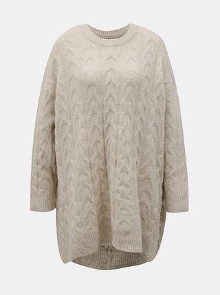 Krémový oversize svetr s příměsí vlny ONLY Dora