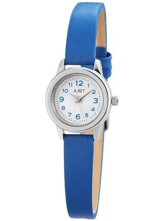 Dámské hodinky s modrým koženým páskem Just