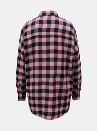 Růžová kostkovaná košile Noisy May