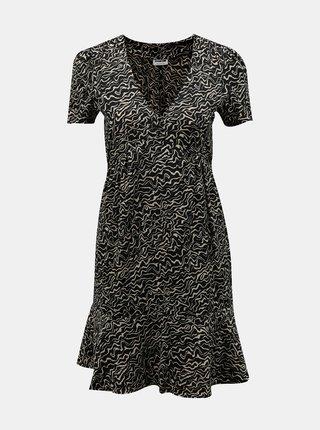 Čierne vzorované šaty Noisy May