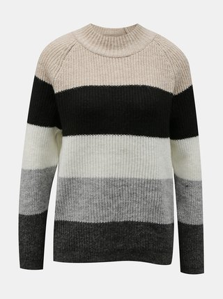 Šedý pruhovaný svetr ONLY