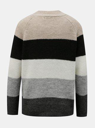 Šedý pruhovaný svetr ONLY -Jade
