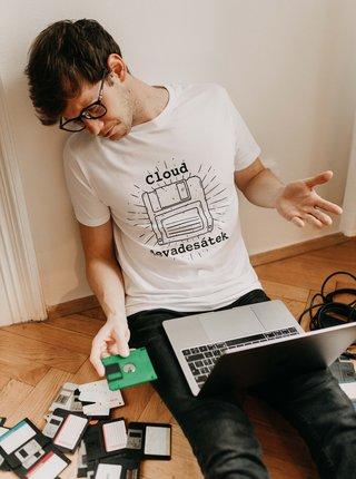 Biele pánske tričko ZOOT Original Cloud deväťdesiatok