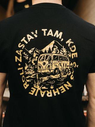 Černé pánské tričko ZOOT Original Čas nehraje roli
