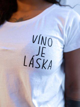 Bílé dámské tričko ZOOT Original Víno je láska
