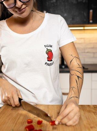 Bílé dámské tričko ZOOT Original Chilli paprička