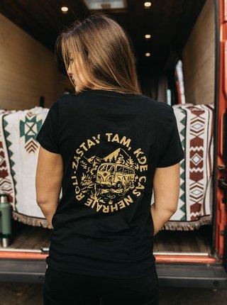 Černé dámské tričko ZOOT Original Čas nehraje roli
