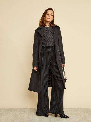 Tmavošedý dámsky kabát s prímesou vlny ZOOT