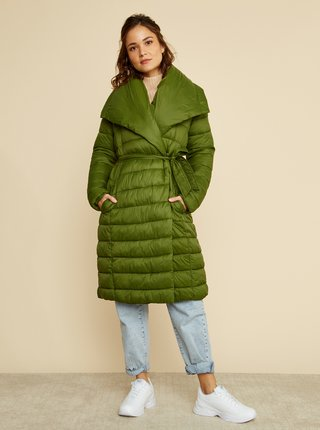 Zelený dámsky zimný prešívaný kabát ZOOT Trisha