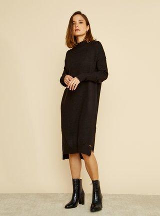 Černé svetrové šaty ZOOT Kitty