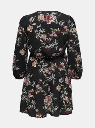 Čierne kvetované šaty ONLY CARMAKOMA Luxmila