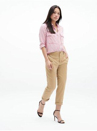 Béžové dámske nohavice GAP Khaki