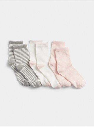 Farebné dievčenské ponožky GAP 3-Pack