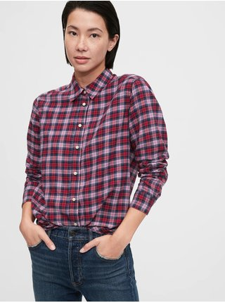 Červená dámska košeľa GAP