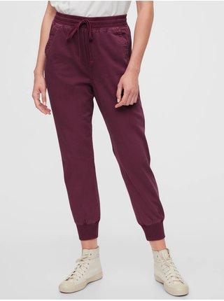 Fialové dámské kalhoty GAP Ribbed Joggers