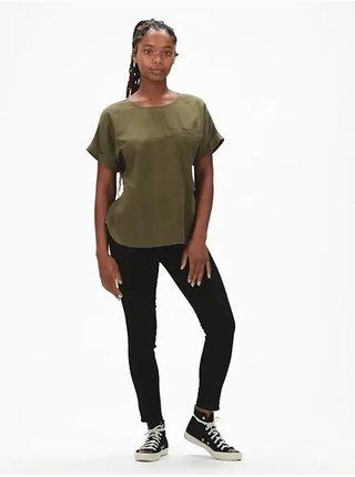 Hnědé dámské tričko GAP