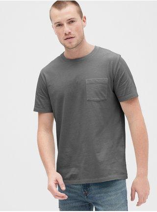 Šedé pánské tričko GAP Pocket