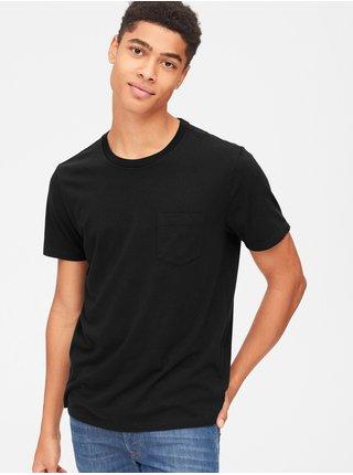 Čierne pánske tričko GAP