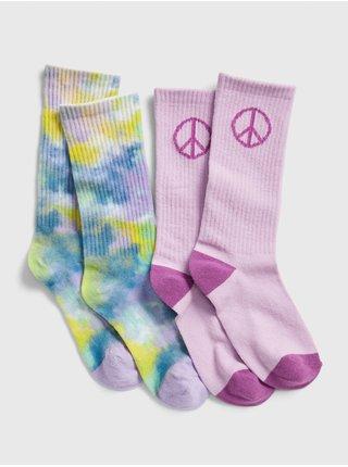 Farebné dievčenské ponožky GAP 2-Pack
