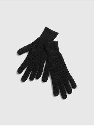 Čierne dámske rukavice GAP