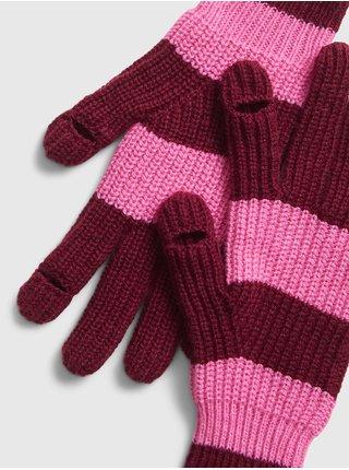 Ružové dámske rukavice GAP