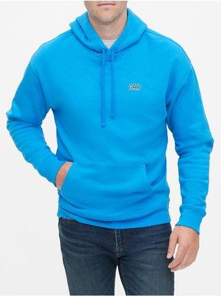 Modrá pánská mikina GAP Logo Hoodie