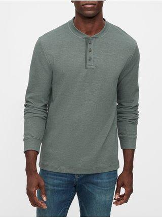 Šedé pánske tričko GAP Henley
