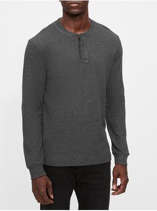 Šedé pánské tričko GAP Henley