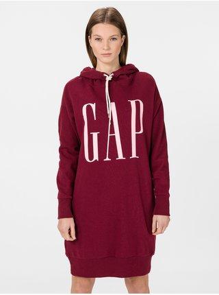 Vínové dámské šaty GAP Logo