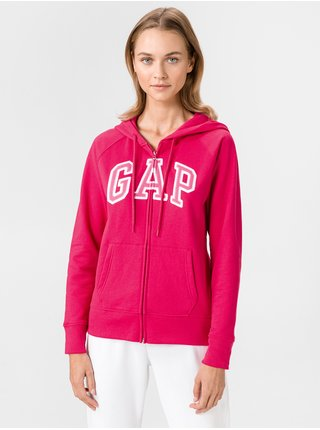 Mikina GAP Zip Logo Ružová