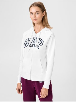Mikina GAP Zip Logo Biela