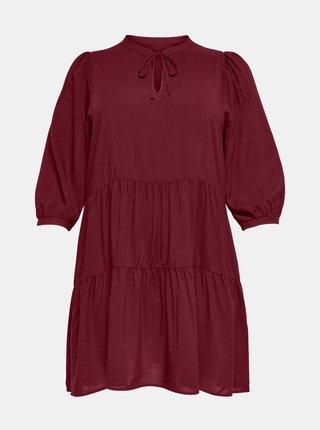 Vínové šaty ONLY CARMAKOMA New