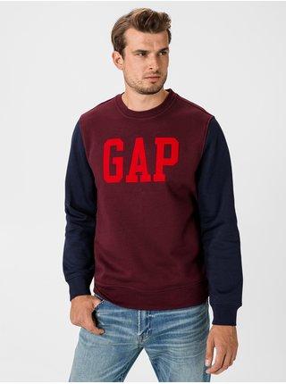 Červená pánska mikina GAP Logo