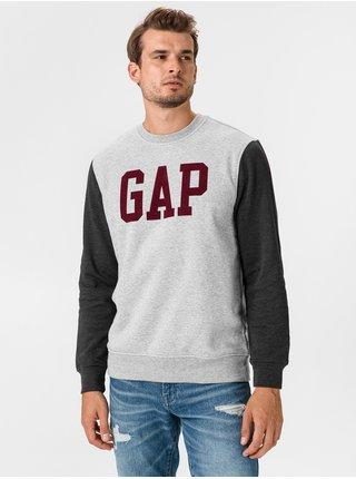 Šedá pánská mikina GAP Logo